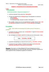 Composition de l'air et description de la matière – Cours : 2eme Secondaire