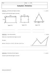 Périmètres – Examen Contrôle : 1ere Secondaire