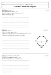 Distances et tangentes – Examen Contrôle : 2eme Secondaire