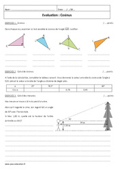 Cosinus – Examen Contrôle : 2eme Secondaire
