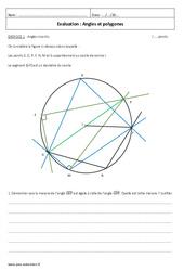 Angles et polygones – Examen Contrôle avec le corrigé : 3eme Secondaire