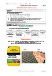 Traitement de toiture – Démarche d'investigation avec les corrigés : 3eme Secondaire