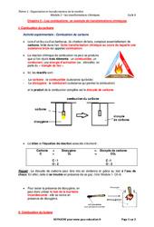 Les combustions, un exemple de transformations chimiques – Cours : 2eme Secondaire