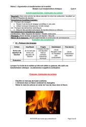 Combustion du carbone – Activité expérimentale avec les corrections : 2eme Secondaire