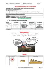 Une leçon de pilotage – Démarche d'investigation avec les corrections : 3eme Secondaire