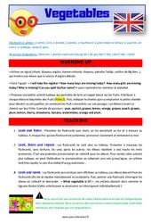 Vegetables – Anglais – Lexique – Séquence complète : 4eme, 5eme Primaire