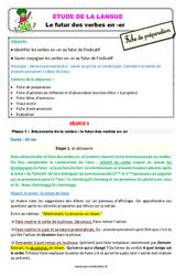 Le futur des verbes en – er au  – Étude de la langue – Fiche de préparation : 2eme Primaire