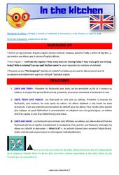 In the kitchen – Anglais – Lexique – Séquence complète : 2eme, 3eme Primaire