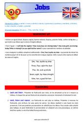 Jobs – Anglais – Lexique – Séquence complète : 4eme, 5eme Primaire