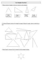 Triangles – Exercices : 3eme Primaire