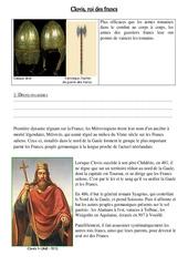 Clovis, roi des francs – Exercices – Moyen âge – : 3eme, 4eme Primaire