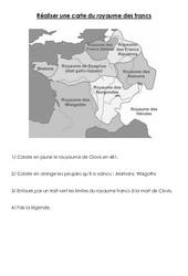 Royaume des francs – Exercices – Moyen âge – : 3eme, 4eme Primaire