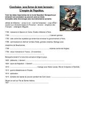 Document – Questions – Empire de Napoléon – Exercices – Les Temps Modernes – Questionnaire : 4eme, 5eme Primaire