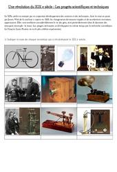 Les progrès scientifiques et techniques  du XIX e siècle – La révolution industrielle – Fiches Exercices : 5eme Primaire