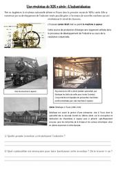 Industrialisation – La révolution industrielle – XIX ème siècle – Exercices : 5eme Primaire