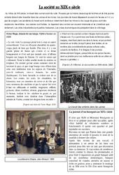 La société au XIX e siècle – La révolution industrielle – XIX ème siècle – Exercices : 5eme Primaire
