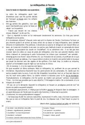 Le millepattes à l'école – Récit – Lecture : 6eme Primaire