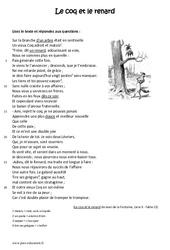 Le coq et le renard – Lecture – Fable – Récit : 6eme Primaire