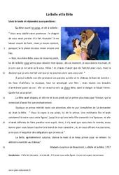 La Belle et la Bête – Lecture – Conte : 6eme Primaire