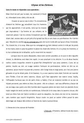 Ulysse et les Sirènes – Lecture – L'Odyssée – Mythes : 6eme Primaire
