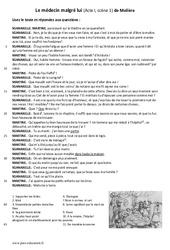 Le médecin malgré lui de Molière – (Acte I, scène 1) – Lecture théâtrale : 6eme Primaire