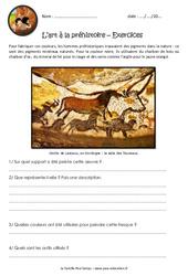 L'art à la préhistoire – Exercices : 3eme Primaire