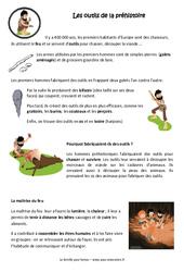 Outils de la préhistoire – Maîtrise du feu – Cours, Leçon : 3eme, 4eme Primaire