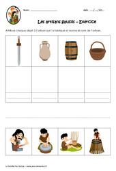 Les artisans gaulois – Exercices : 3eme, 4eme Primaire
