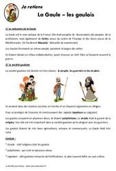 Gaule – Gaulois – Cours, Leçon – Antiquité : 3eme, 4eme Primaire
