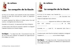 Conquête de la Gaule – Cours, Leçon – Antiquité : 3eme, 4eme Primaire