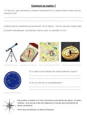 Comment se repérer – Boussole – Exercices – Sciences : 3eme, 4eme Primaire