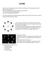 Lune – Cours, Leçon – Sciences : 4eme, 5eme Primaire