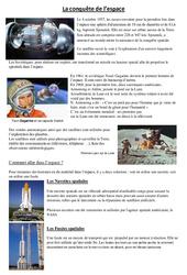 Conquête de l'espace – Exercices – Sciences : 4eme, 5eme Primaire