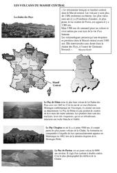 Volcans du massif central – Cours, Leçon – Sciences : 5eme Primaire