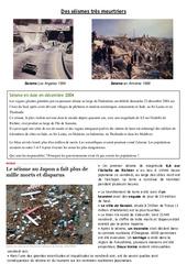 Des séismes très meurtriers – Exercices – Sciences : 5eme Primaire
