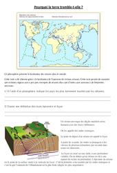 Pourquoi la terre tremble t'elle – Exercices – Sciences : 5eme Primaire