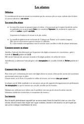 Séismes – Cours, Leçon – Sciences : 5eme Primaire