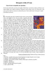 Désespoir et folie d'Yvain – Récit – Lecture : 1ere Secondaire