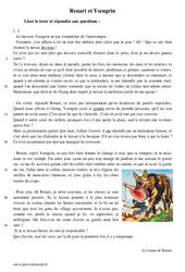 Renart et Ysengrin – Récit – Lecture : 1ere Secondaire