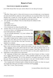 Renart et l'ours – Récit – Lecture – Le roman de Renart : 1ere Secondaire