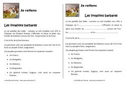 Invasions barbares – Cours, Leçon : 4eme Primaire
