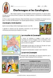 Charlemagne et les carolingiens – Exercices – Documentaire : 4eme Primaire