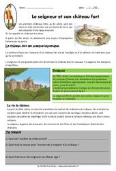 Le seigneur et son château fort – Exercices – Documentaire : 4eme Primaire
