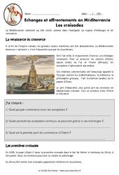 Croisades – Affrontements en Méditerranée – Exercices – Documentaire : 4eme Primaire