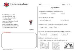 Le cartable rêveur – Poésie : 2eme Primaire
