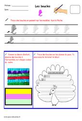 Boucles – Fichier graphisme : 1ere, 2eme, 3eme Maternelle – Cycle Fondamental