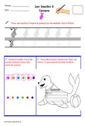 Boucles à l'envers – Fichier graphisme : 1ere, 2eme, 3eme Maternelle – Cycle Fondamental