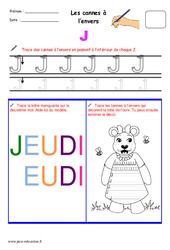 Cannes à l'envers – Fichier graphisme : 1ere, 2eme, 3eme Maternelle – Cycle Fondamental