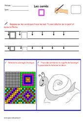 Carrés – Fichier graphisme : 1ere, 2eme, 3eme Maternelle – Cycle Fondamental