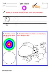 Cercles – Fichier graphisme : 1ere, 2eme, 3eme Maternelle – Cycle Fondamental
